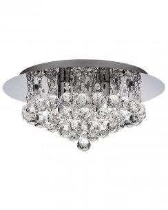 Searchlight Hanna 4 Light Crystal Bathroom Ceiling Fitting 4404-4CC