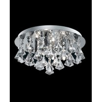 Searchlight Hanna 4 Light Crystal  semi-flush Ceiling Fitting 3304-4CC