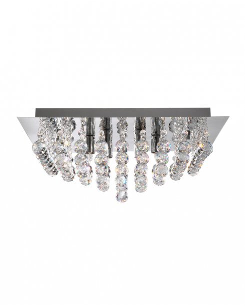 Searchlight Hanna 4 Light Crystal semi-flush Ceiling Fitting 6404-4CC