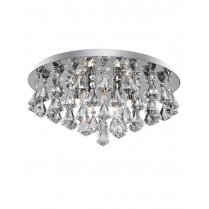 Searchlight Hanna 6 Light Crystal semi-flush Ceiling Fitting 3306-6CC
