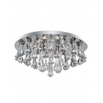 Searchlight Hanna 8 Light Crystal semi-flush Ceiling Fitting 3308-8CC