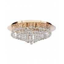 Searchlight Hanna 8 Light Crystal semi-flush Ceiling Fitting 3408-8GO