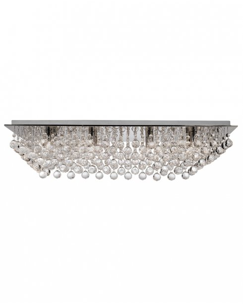 Searchlight Hanna 8 Light Crystal semi-flush Ceiling Fitting 6728-8CC