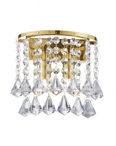 Hanna Crystal Wall Lights : Searchlight Hanna Crystal Chrome Decorative Wall Light 3302-2GO