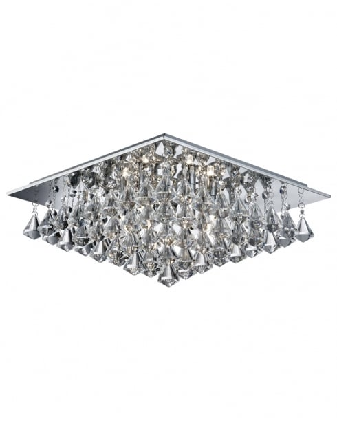 Searchlight Hanna Crystal Chrome Flush Ceiling Fitting 7306-6CC