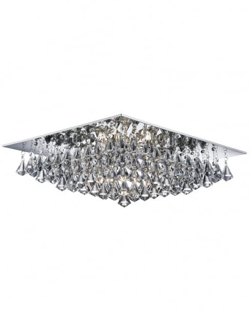 Searchlight Hanna Crystal Chrome Flush Ceiling Fitting 7308-8CC