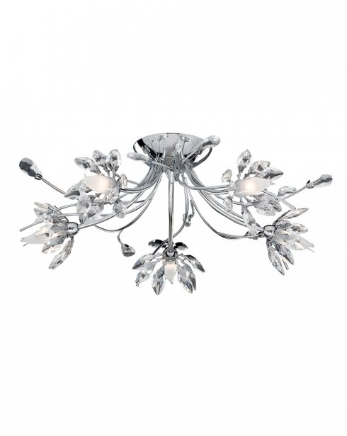 Searchlight Hibiscus 5 Light Traditional Semi-Flush Fitting 2885-5CC