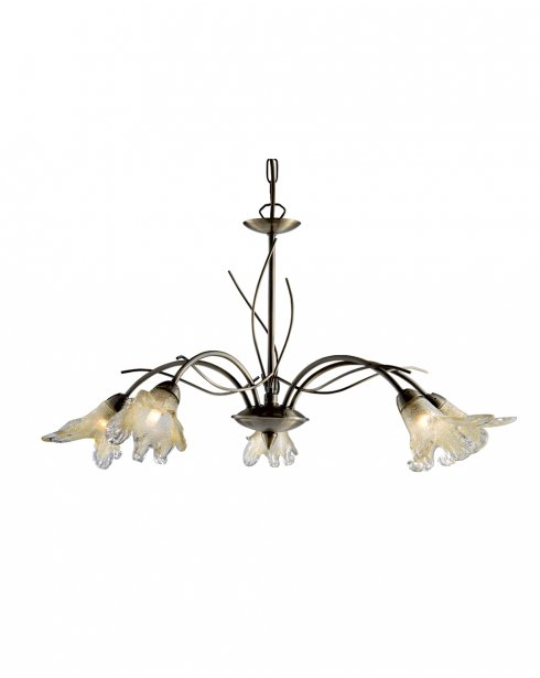 Searchlight Lily 5 Light Traditional Multi-Arm Pendant 4495-5AB