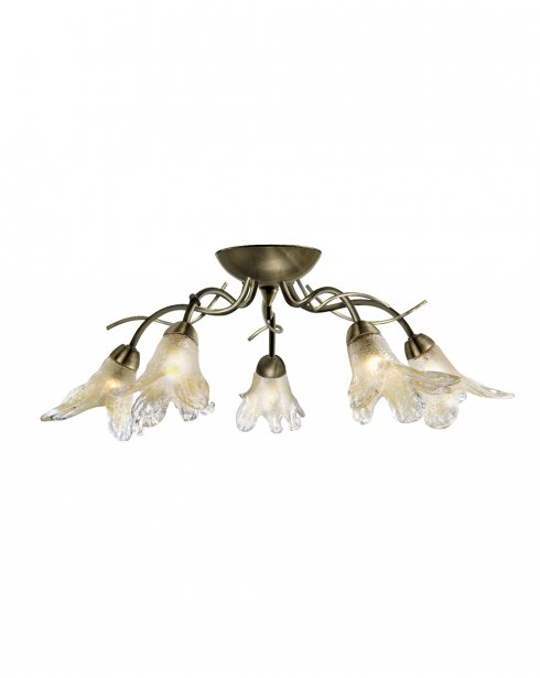 Searchlight Lily 5 Light Traditional Semi-Flush Fitting 5495-5AB