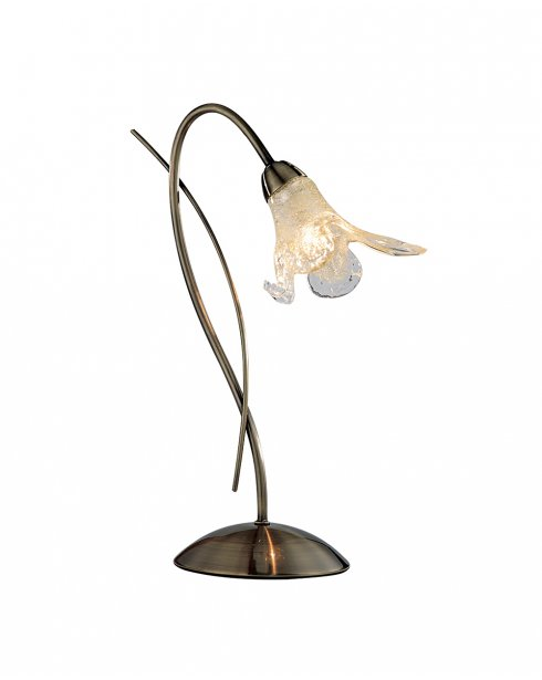 Searchlight Lily Single Light Traditional Incidental Table Lamp 4491AB