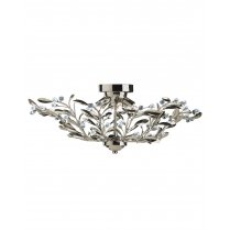 Searchlight Lima 6 Light Crystal Semi-Flush Fitting 5256-6AB