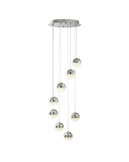 Searchlight Marbles Pendant Light 5848-8CC