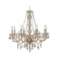 Searchlight Marie Therese 8 Light Crystal Chandelier 8888-8MI