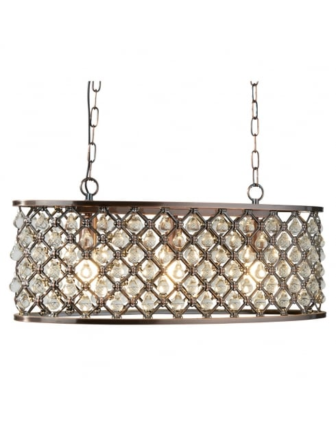 Searchlight Marquise Pendant Light 6953-3CU