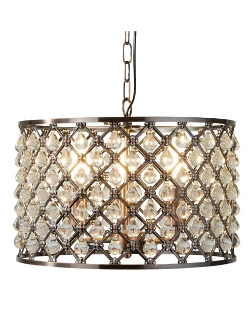 Searchlight Marquise Pendant Light 7813-3CU