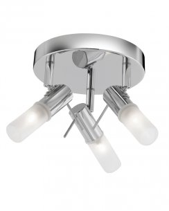 Searchlight Mars 3 Light Modern Bathroom Ceiling Fitting 7213CC-LED