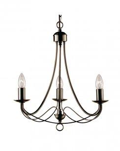 Searchlight Maypole 3 Light Traditional Multi-Arm Pendant 6343-3AB