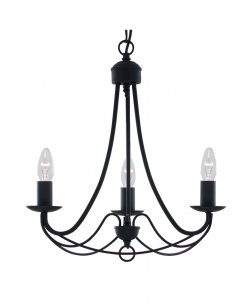 Searchlight Maypole 3 Light Traditional Multi-Arm Pendant 6343-3BK