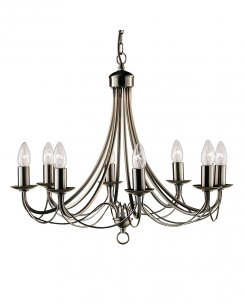 Searchlight Maypole 8 Light Traditional Multi-Arm Pendant 6348-8AB