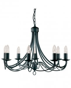 Searchlight Maypole 8 Light Traditional Multi-Arm Pendant 6348-8BK