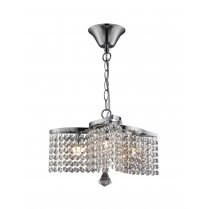 Searchlight Medina 3 Light Crystal Multi-Arm Pendant 7973-3CC