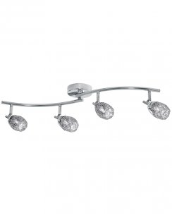 Searchlight Mesh Spot 4 Light Modern Ceiling Spotlight Bar 9994CC
