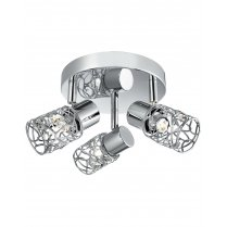 Searchlight Mesh Spot II 3 Light Modern Spotlight Fitting 7713CC