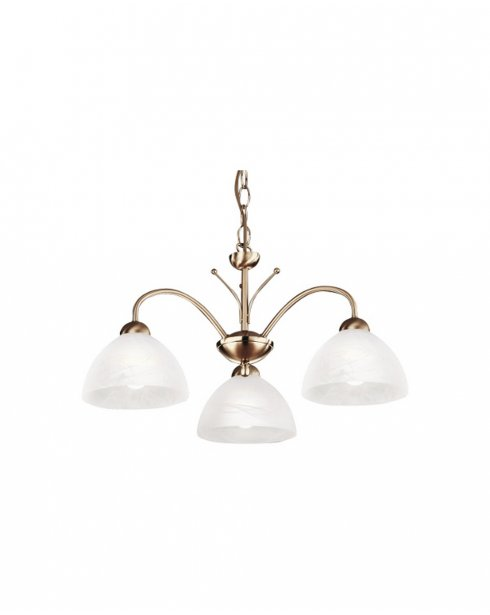 Searchlight Milanese 3 Light Traditional Multi-Arm Pendant 1133-3AB