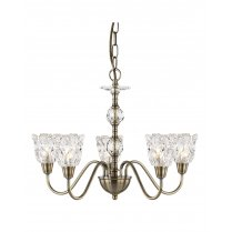 Searchlight Monarch 5 Light Traditional Multi-Arm Pendant 6255-5AB