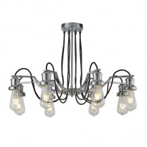 Searchlight Olivia Semi-Flush Light 1068-8CC