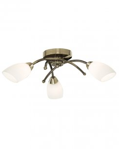 Searchlight Opera 3 Light Modern Semi-Flush Fitting 8183-3AB