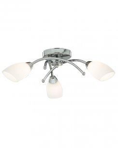 Searchlight Opera 3 Light Modern Semi-Flush Fitting 8183-3CC