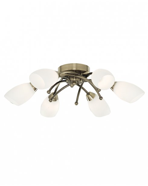 Searchlight Opera 6 Light Modern Semi-Flush Fitting 8186-6AB