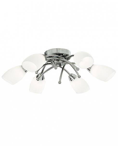 Searchlight Opera 6 Light Modern Semi-Flush Fitting 8186-6CC