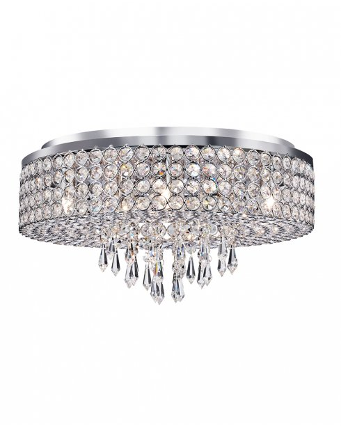 Searchlight Orion 9 Light Crystal semi-flush Ceiling Fitting 4139-9CC