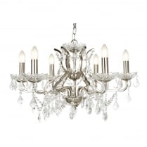 Searchlight Paris Chandelier 8736-6SS