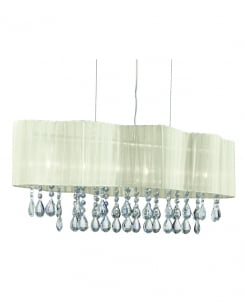 Searchlight Pleated Traditional Chrome Pendant Light 2226-6CR