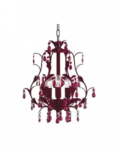 Searchlight Plum Chandelier 7103-3RE