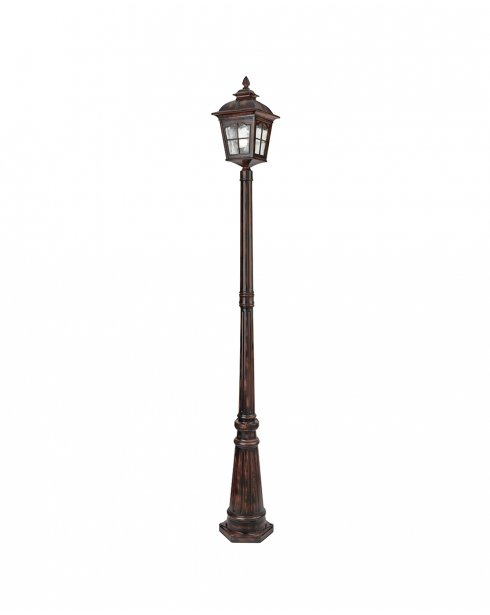 Searchlight Pompeii Single Light Traditional Outdoor Light Post 1574BR