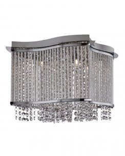 Searchlight Porter 3 Light Crystal Flush Ceiling Fitting 8323-3CC