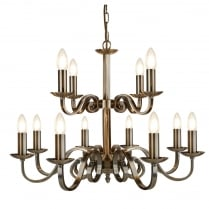 Searchlight Richmond Chandelier 15012-12AB