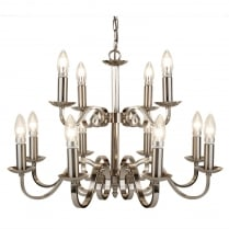 Searchlight Richmond Chandelier 15012-12SS