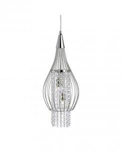 Searchlight Rocket 2 Light Crystal Pendant Light 3242-2CC
