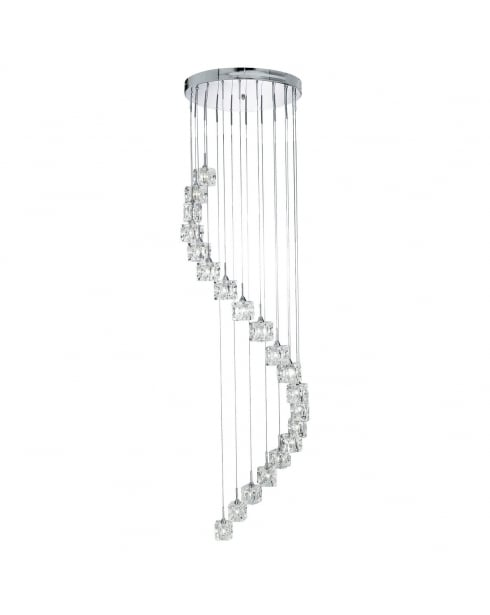 Searchlight Sculptured Ice Pendant Light 6720-20-LED