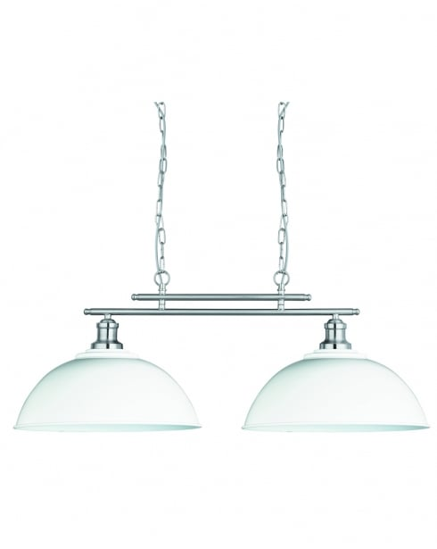 Searchlight 0932-2WH Traditional Silver Pendant Light