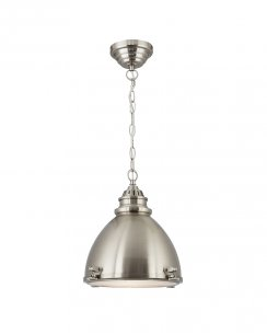 Searchlight 1294SS Single Light Modern Pendant Light