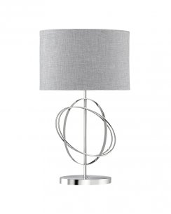 Searchlight 1514CC Chrome Rings Table Lamp