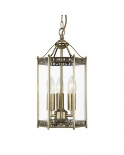 Searchlight 2273AB 3 Light Traditional Pendant Light