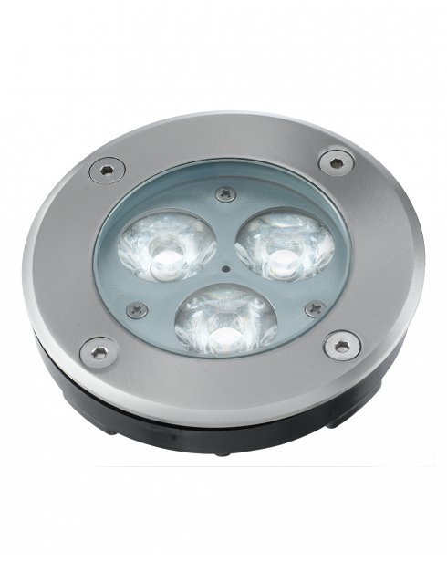 Searchlight 2505WH 3 Light Modern Recessed Outdoor Light