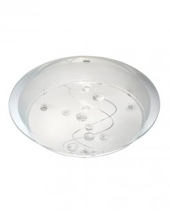 Searchlight 3020-25CC Single Light Modern Flush Ceiling Fitting